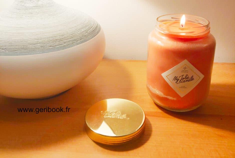avis bougie my jolie candle géante xxl parfum fleur oranger