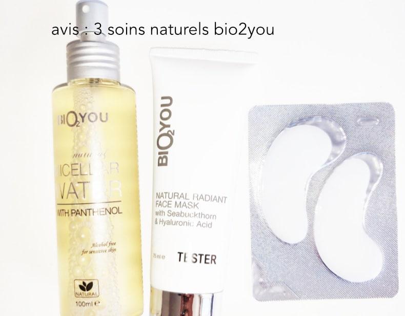 avis eau micellaire naturelle bio2you, masque et patch yeux