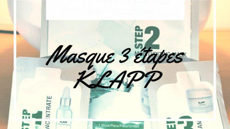 Quel avis sur KLAPP mask lab hydratant visage ?