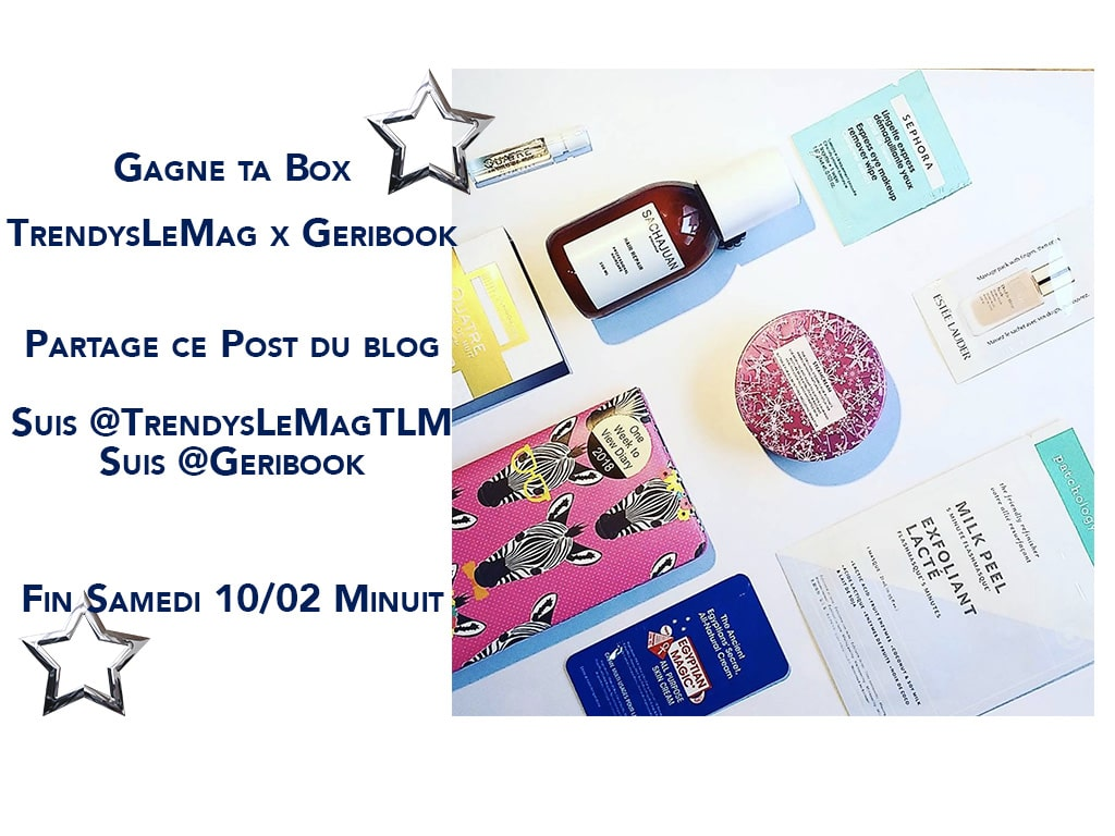 concours box geribook jeu blog beauté