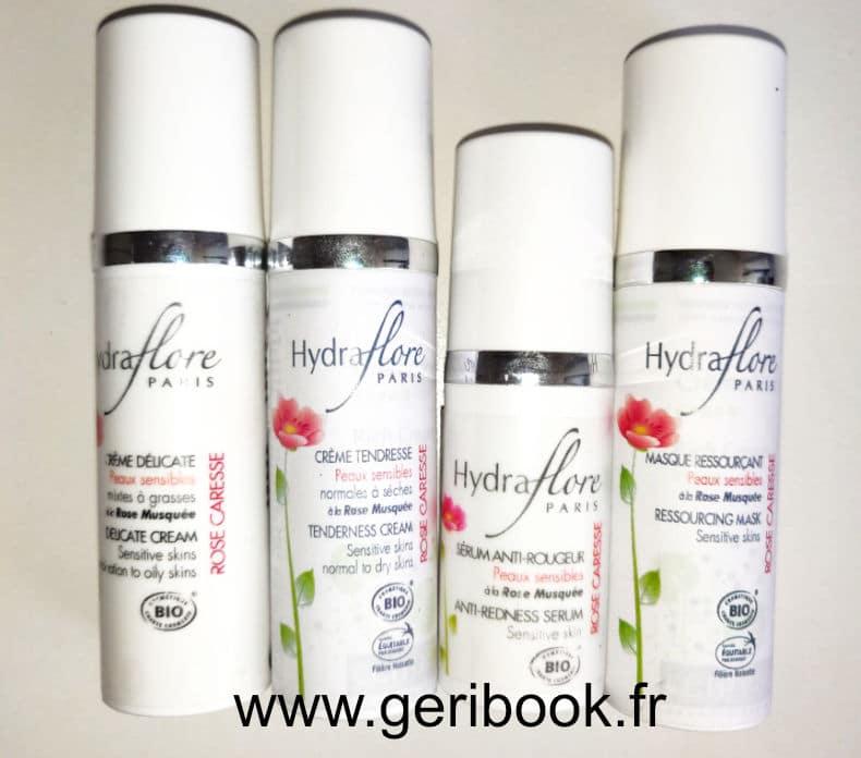 hydraflore peau sensible rose caresse