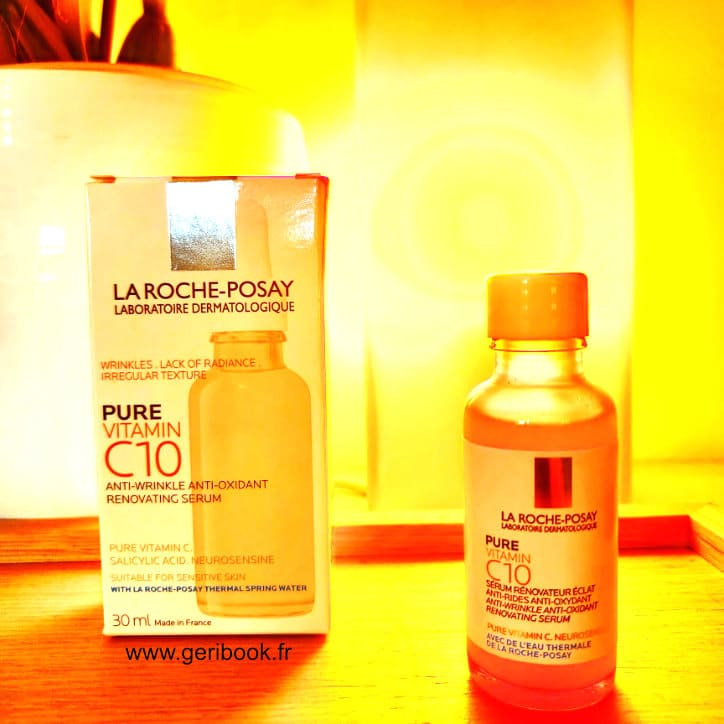 pure vitamine C acide ascorbique peau dermatologie serum visage actif