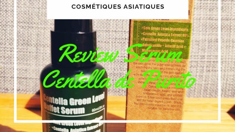 avis beauté – sérum Purito centella green level buffet